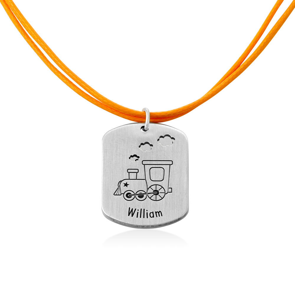 Train Personalised Dog Tag in Sterling Silver - 1