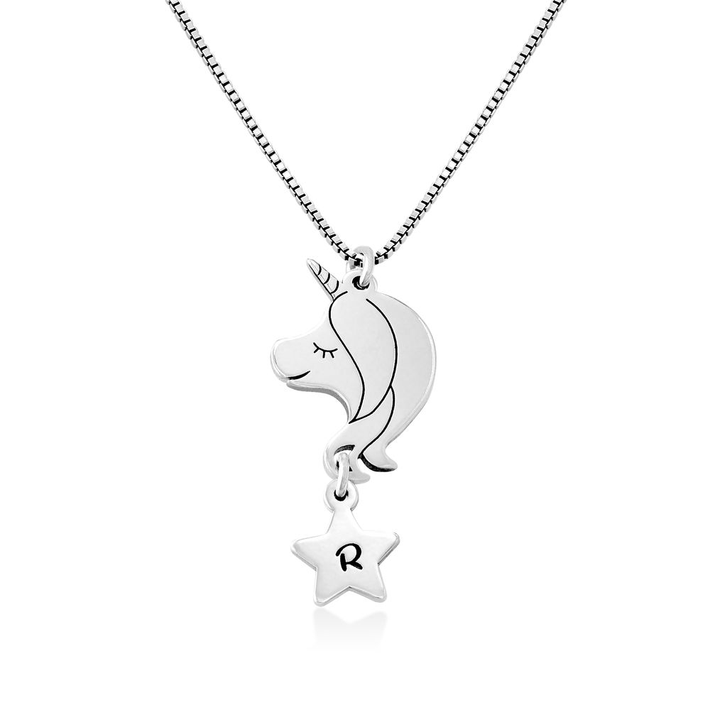 Girls Unicorn Necklace in Sterling Silver