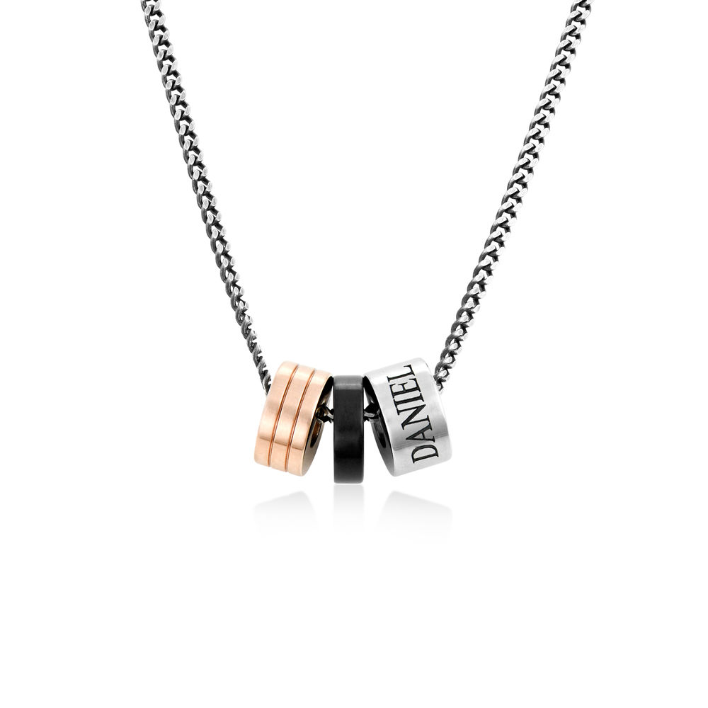 Engraved Beads Necklace for Men