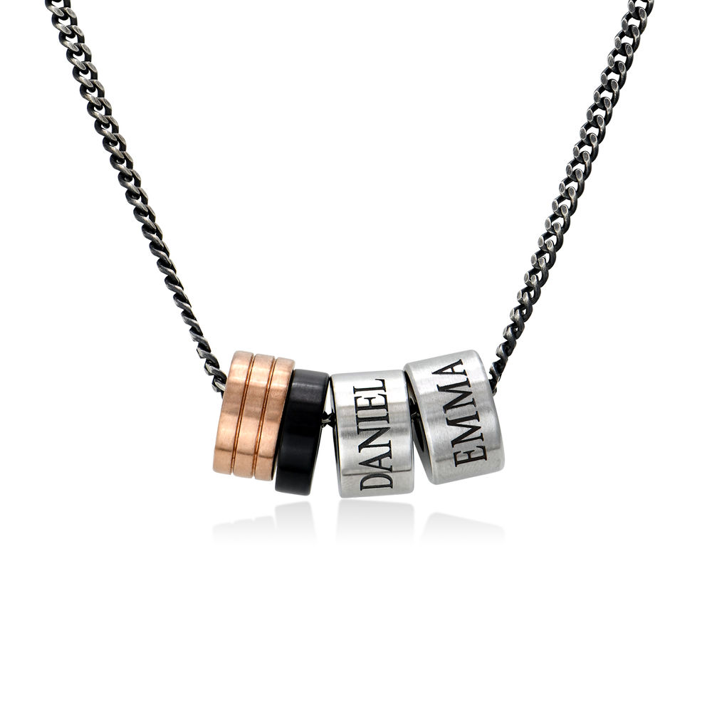 Engraved Beads Necklace for Men - 1