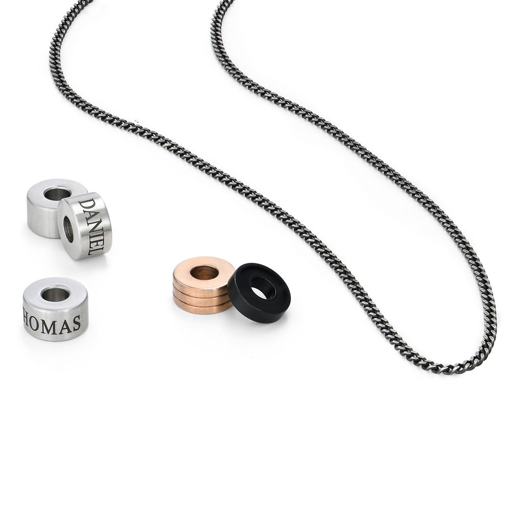 Engraved Beads Necklace for Men - 2