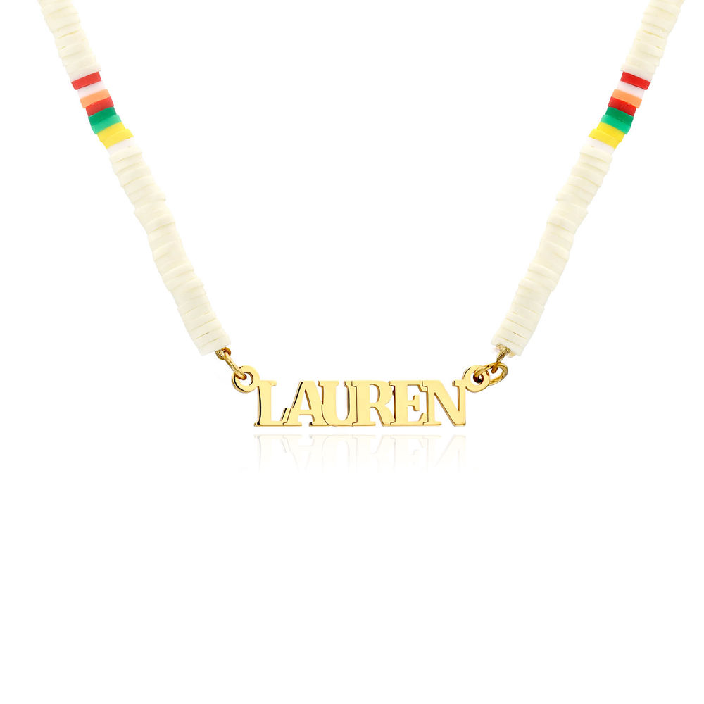 Treasure Island Name Necklace in Gold Plating