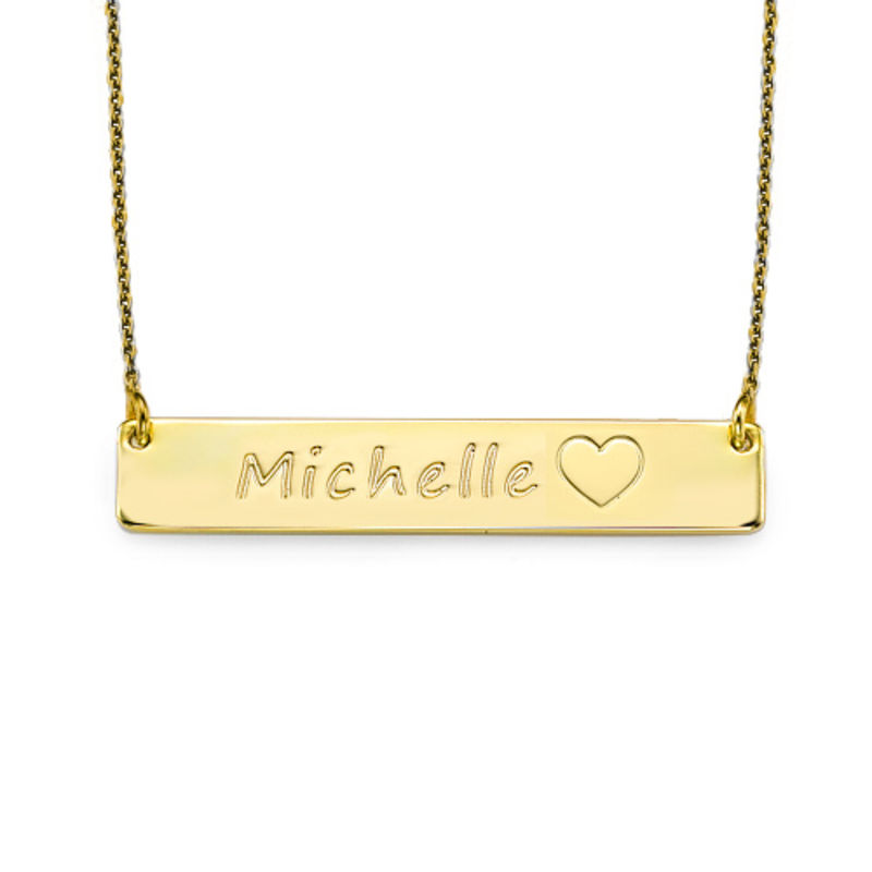 18ct Gold Plated Icon Bar Necklace