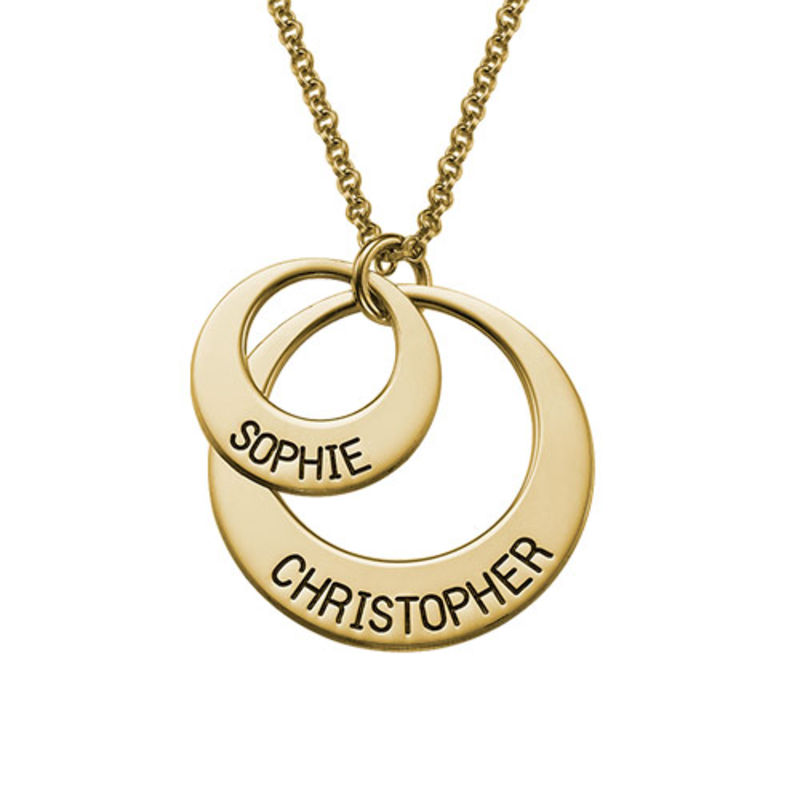 Jewellery for Mums - Disc Necklace in Gold Plating - 1
