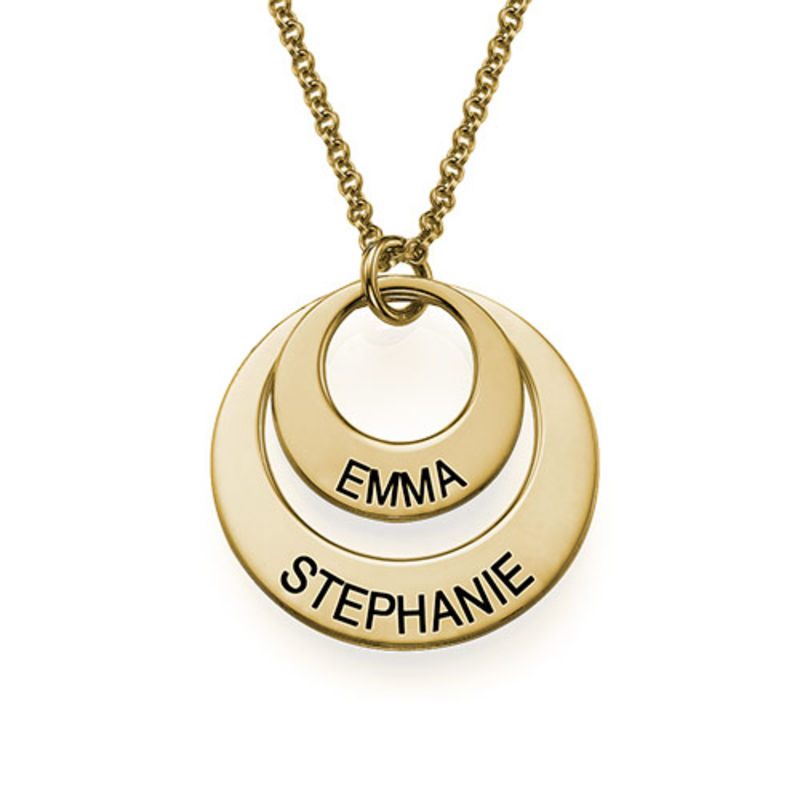 Jewellery for Mums - Disc Necklace in Gold Plating - 2