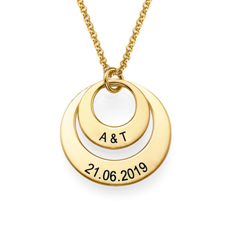 Jewellery for Mums - Disc Necklace in 18ct Gold Vermeil