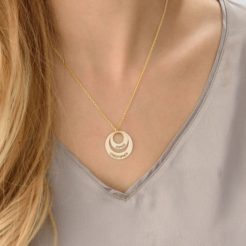 Jewellery for Mums - Disc Necklace in 18ct Gold Vermeil - 3