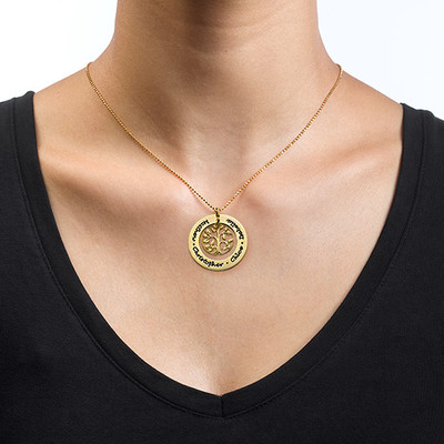 Gold Plated Family Tree Necklace - 1
