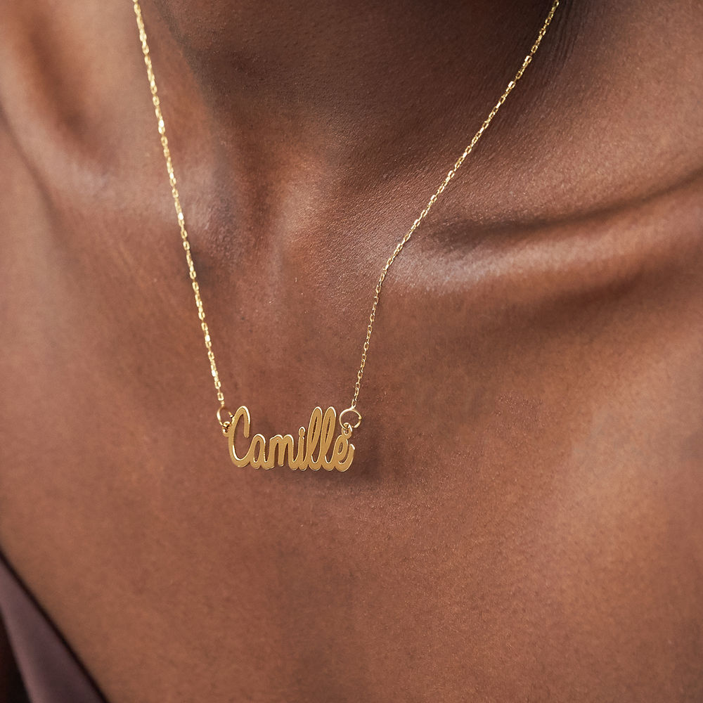 Personalised Cursive Name Necklace in 10ct Yellow Gold - 2