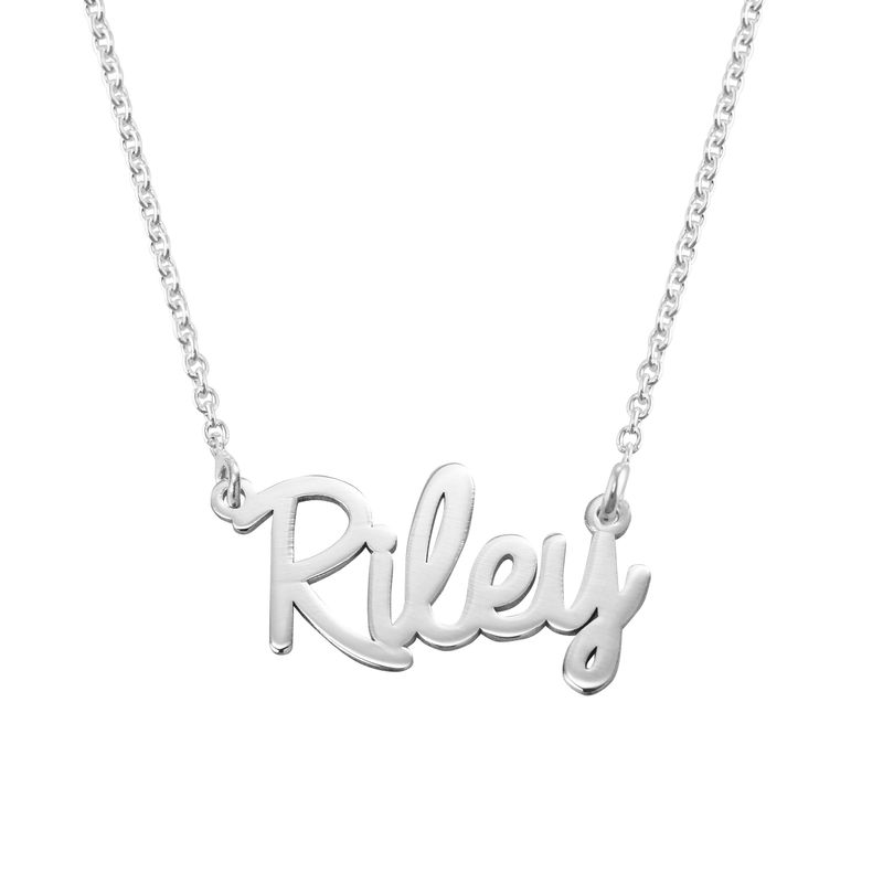 Cursive Name Necklace in 940 Premium Silver