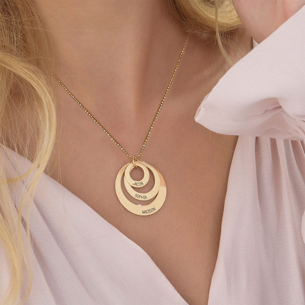 Jewellery for Mums - Three Disc Necklace in 10ct Gold - 3