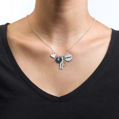 Infinity Charm Necklace for Mums - 1