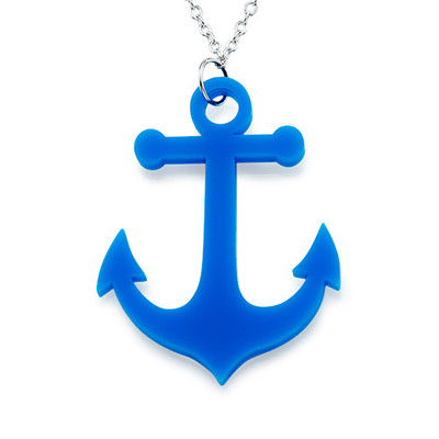 Acrylic Anchor Necklace