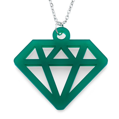 Acrylic Diamond Necklace - 1