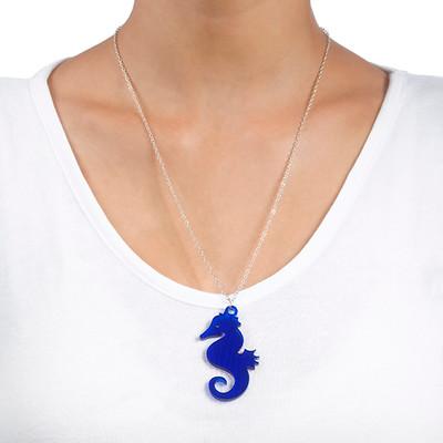 Seahorse Necklace in Acrylic - 1