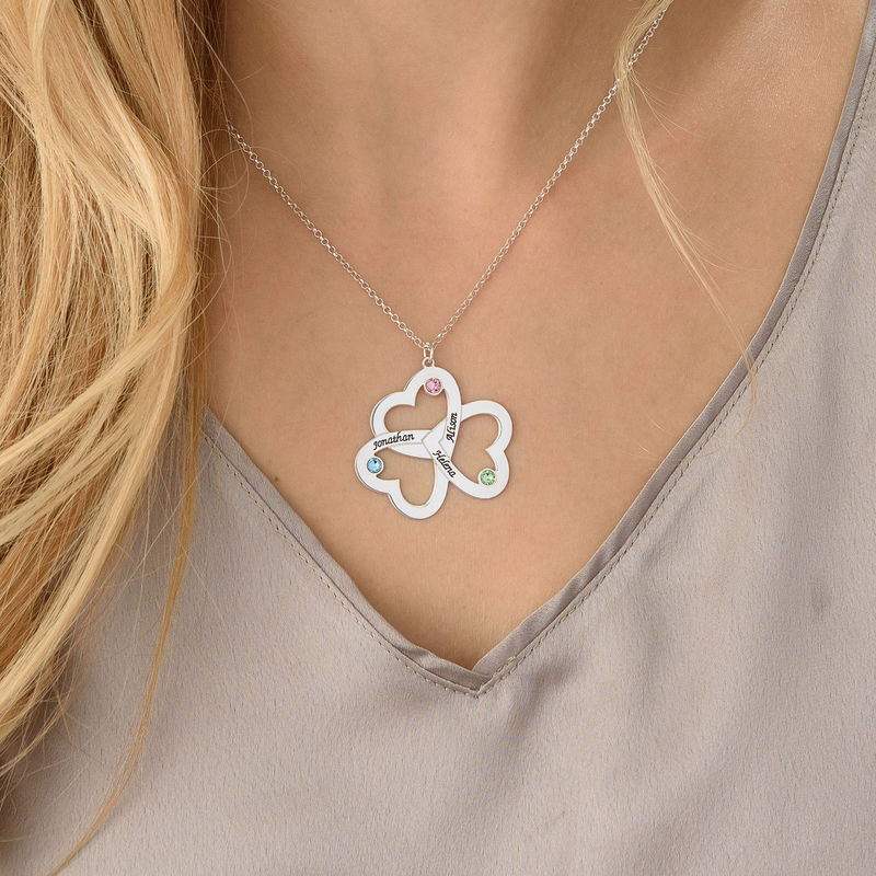 Personalised Triple Heart Necklace - 3