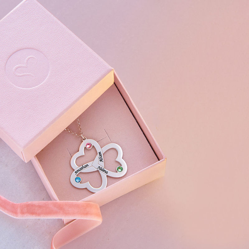 Personalised Triple Heart Necklace - 4