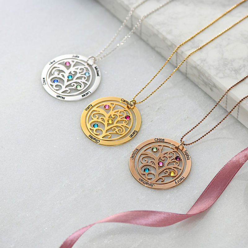 Family Tree Birthstone Necklace - 3