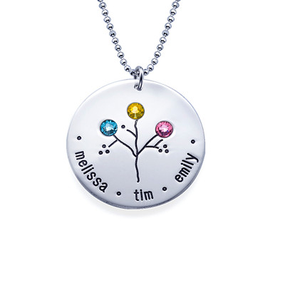 NEW Sterling Silver Family Tree Necklace - 3