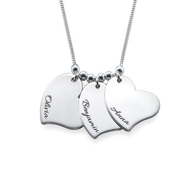 Engraved Heart Charm Necklace