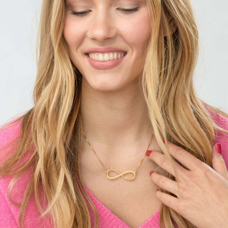 Infinity Name Necklace in Gold Vermeil - 3