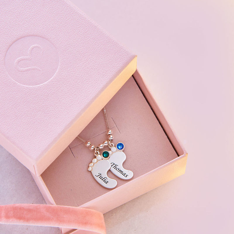 Mum Jewellery - Baby Feet Necklace - 6