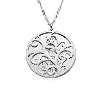 Filigree Family Tree Necklace - 1