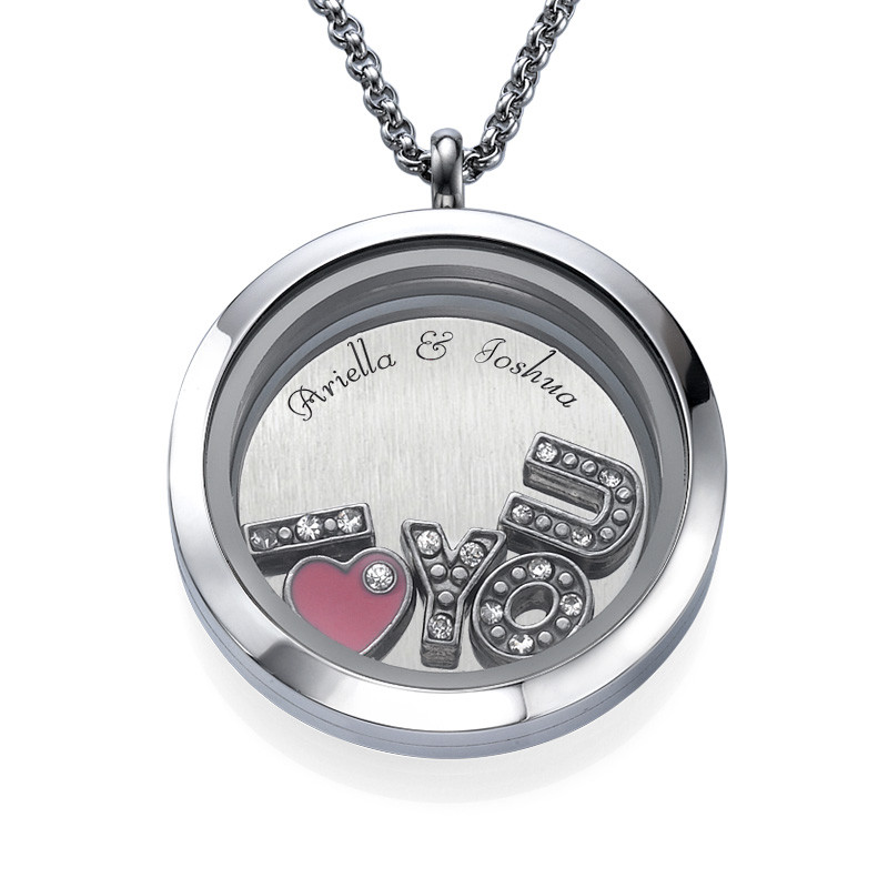 I LOVE YOU  Floating Charms Locket
