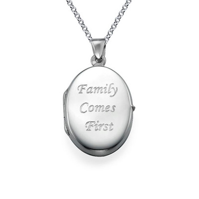 Small Engraved Locket in Sterling Silver