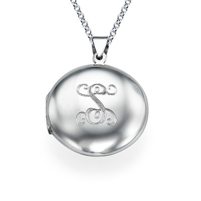 Personalised Initial Locket in Sterling Silver
