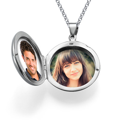 Personalised Initial Locket in Sterling Silver - 2