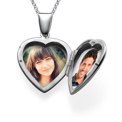 Initial Heart Locket in Sterling Silver - 2