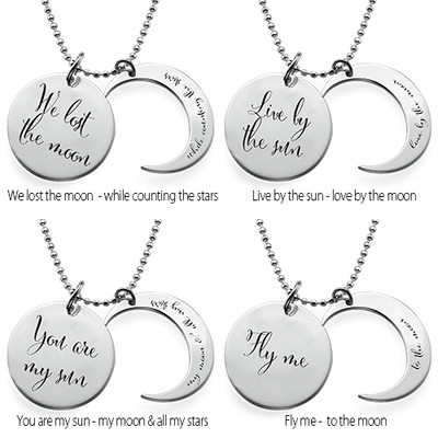 I Love You to the Moon and Back Necklace - 1 - 2