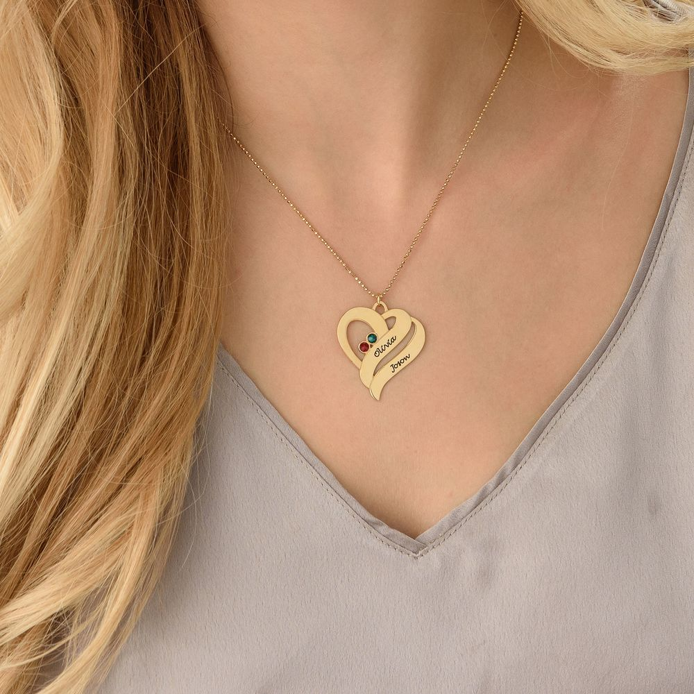 Two Hearts Forever One Necklace - 10ct Gold - 3