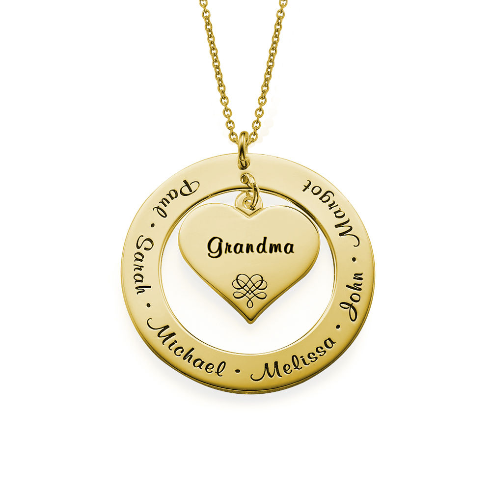 Grandmother Necklace with Names - Gold Plated
