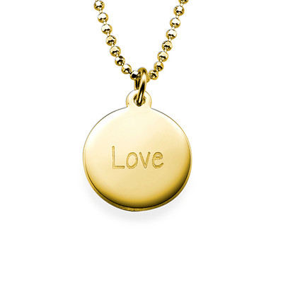 """Inspirational Saying Necklace - """"Love"""" GP"""