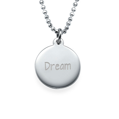 """Inspirational """"Dream"""" Necklace Silver"""