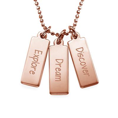 """Inspirational Necklace - """"Explore Dream Discover"""""""