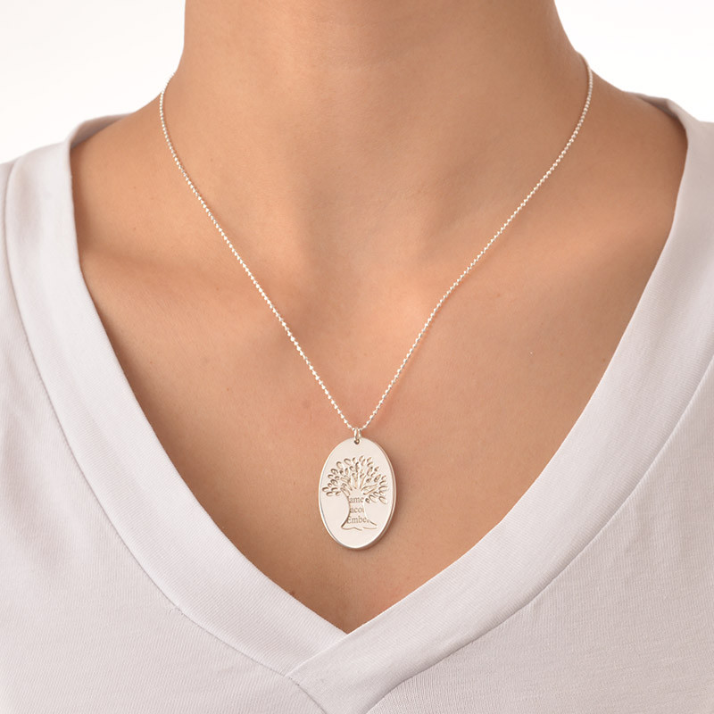 Cut Out Tree of Life Necklace with Engraving - 1 - 2
