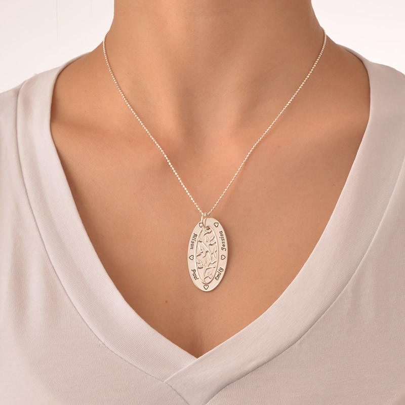 Oval Family Tree Necklace - 1 - 2