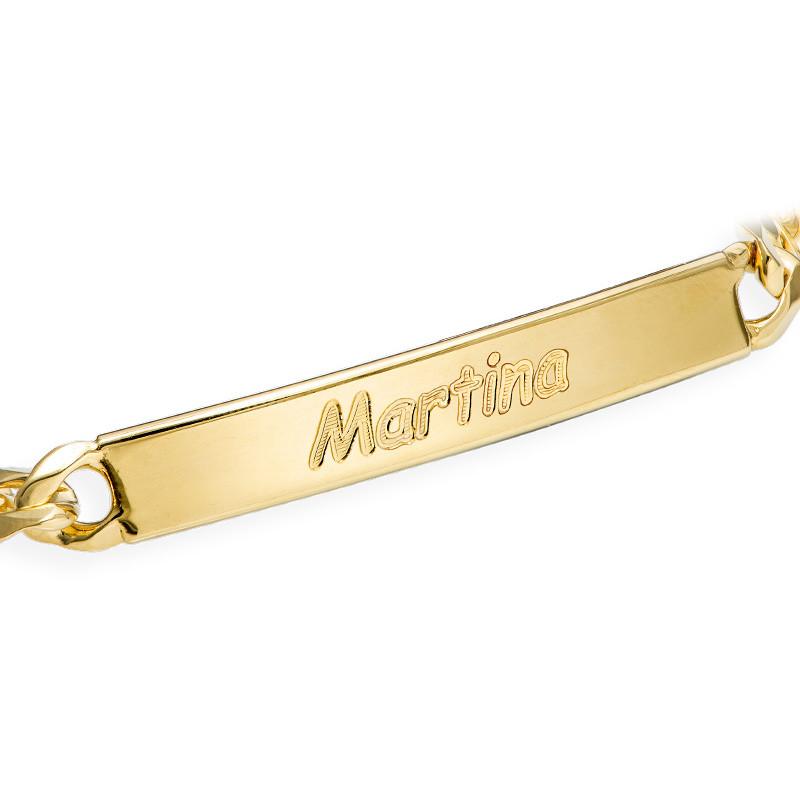 Women's ID Bracelet in 18ct Gold Plating - 1