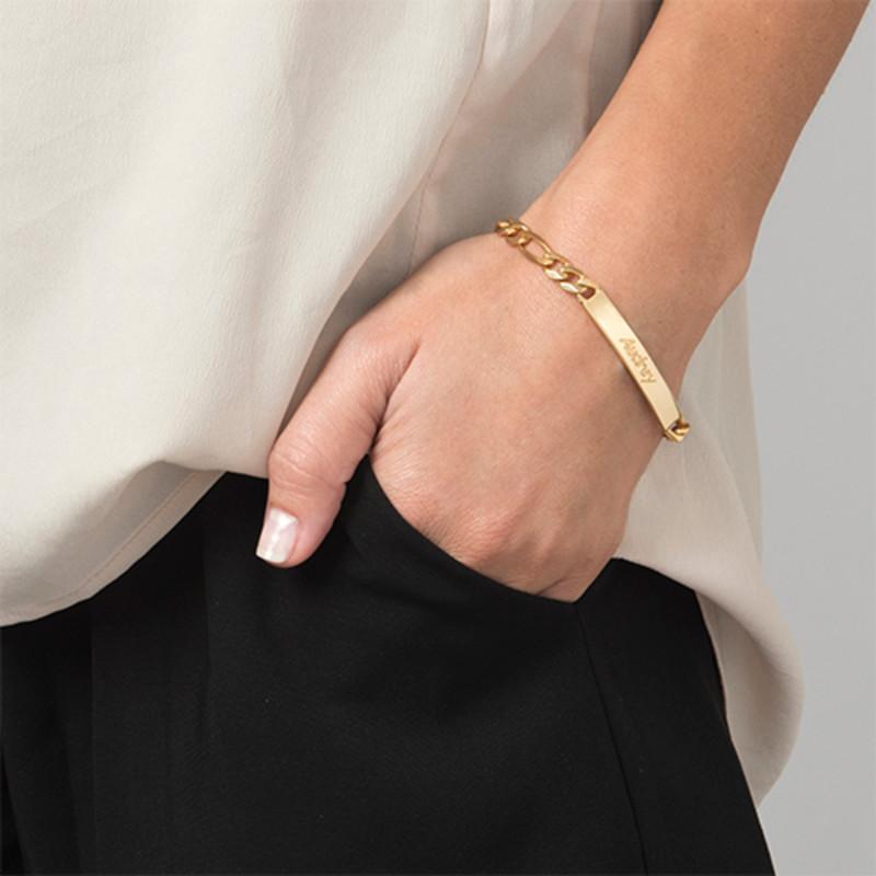 Women's ID Bracelet in 18ct Gold Plating - 2