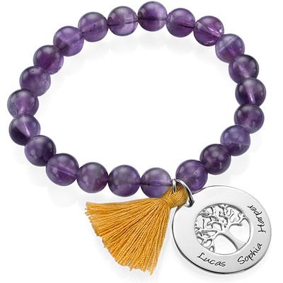 Personalised Family Tree Jewellery - Bead Bracelet with Tassel