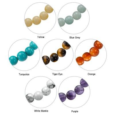 Yoga Jewellery - Engraved Om Bead Bracelet - 4
