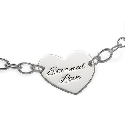 Engraved Heart Bracelet - 1