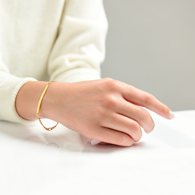 Women's ID Bracelet with Gold Plating - 2