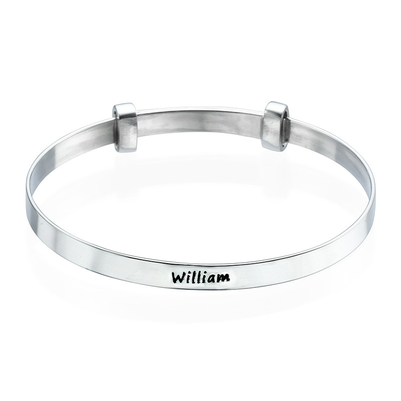 Baby Bangle Bracelet with Engraving