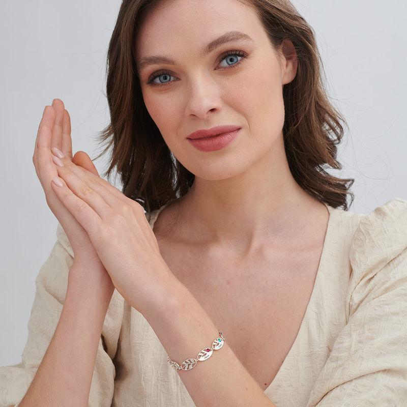Mother Leaf Bracelet with Engraving - 1