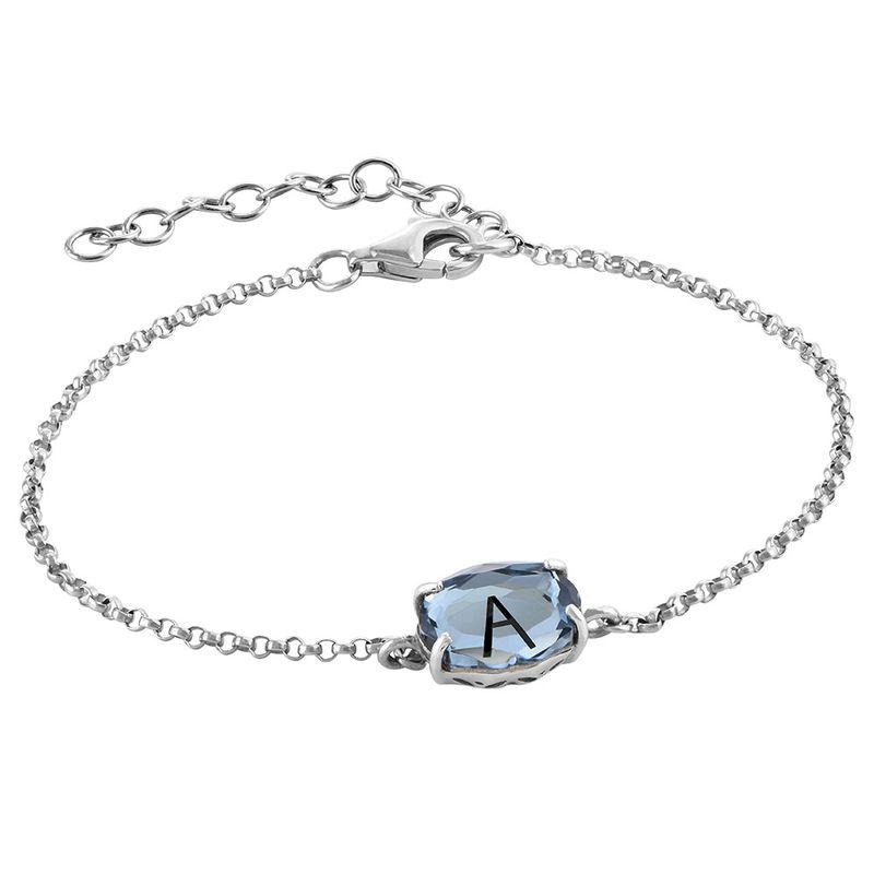 Swarovski Stone Engraved Bracelet in Silver - 2