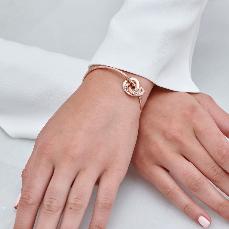 Russian Ring Bangle Bracelet in Rose Gold Plated - 3